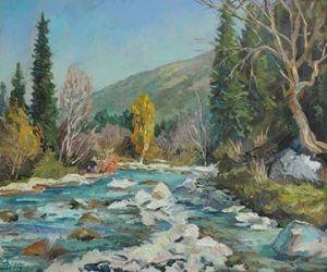 Этюд с горной рекой