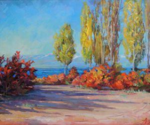 Осенний берег в Каджи-сае