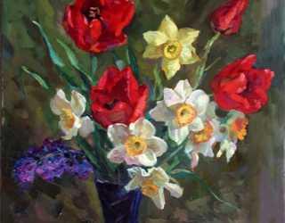 Нарциссы и тюльпаны