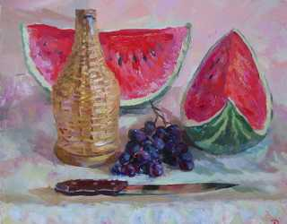 Арбузы и виноград
