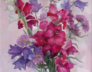 Цветы в розовом