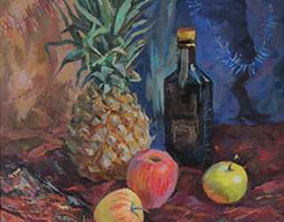 Новогодний натюрморт с ананасом